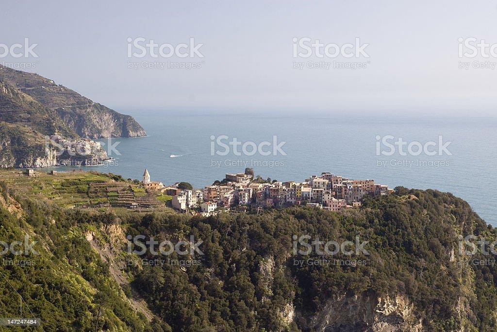 View to Corniglia royalty-free stock photo
