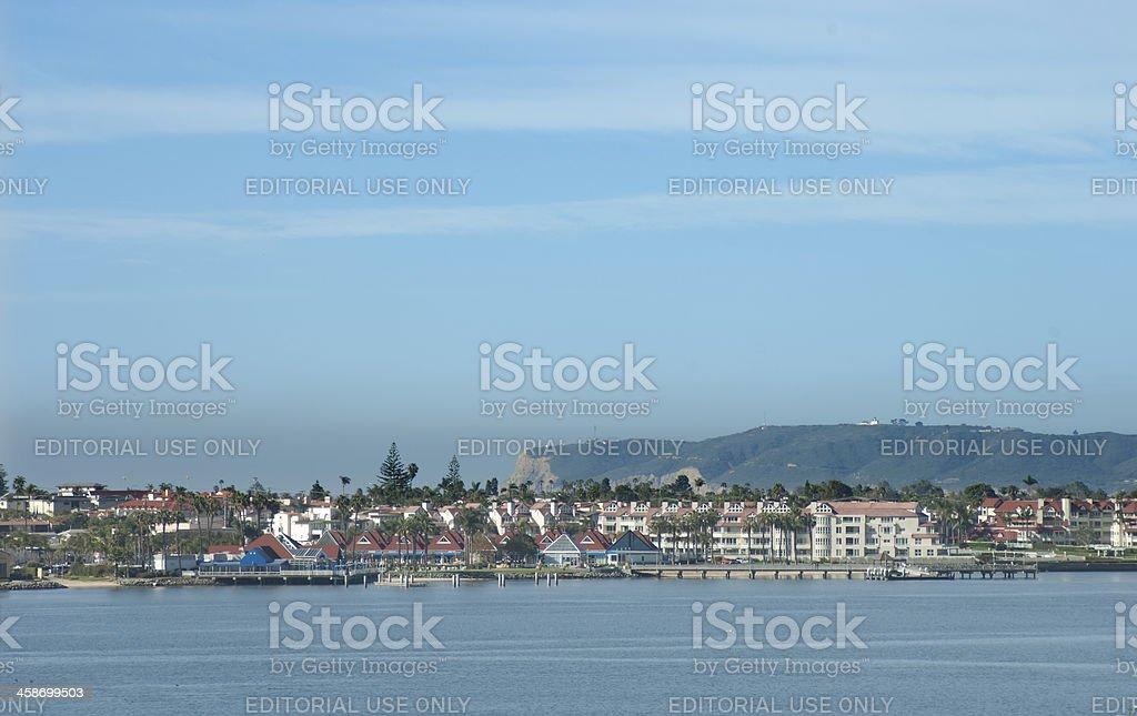 View to Coronado California stock photo