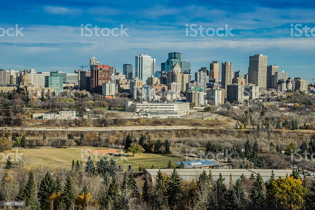 View to downtown of a modern city stock photo