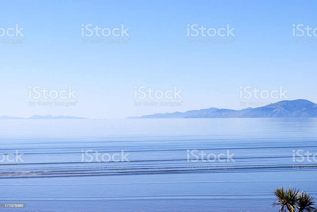 'View to D'Urville Island over Tasman Bay, Nelson' stock photo