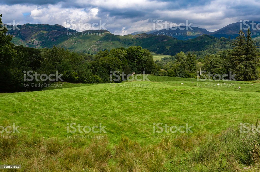 View to Elterwater stock photo