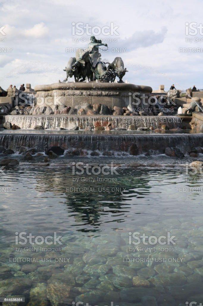 View to Gefion Fountain in Copenhagen, Denmark Scandinavia stock photo