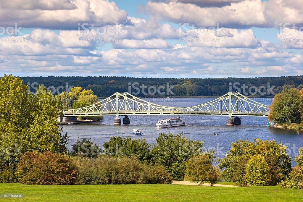 View to Glienicke Bridge, Potsdam, Germany stock photo