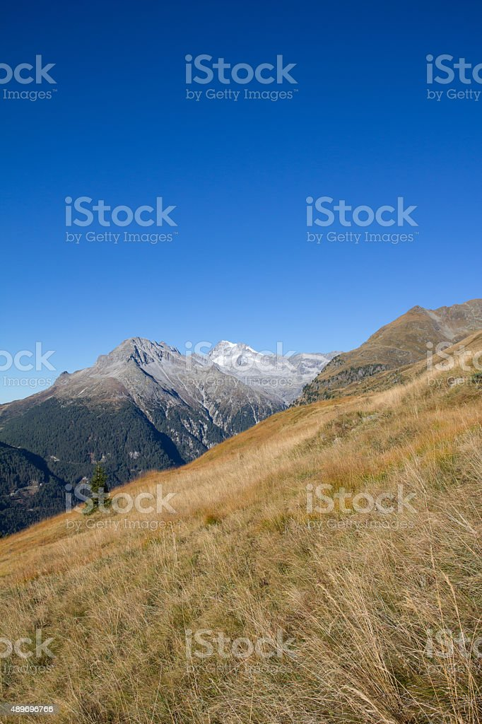 View To Hochgall 3.436m From St. Jakob In Defereggental stock photo