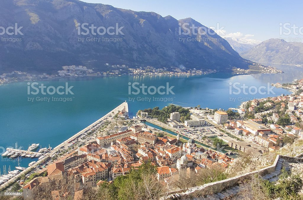 View to Kotor stock photo