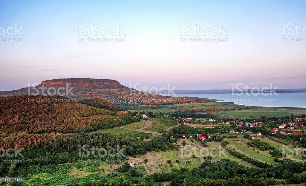 View to Lake Balaton from Szigliget,Hungary royalty-free stock photo
