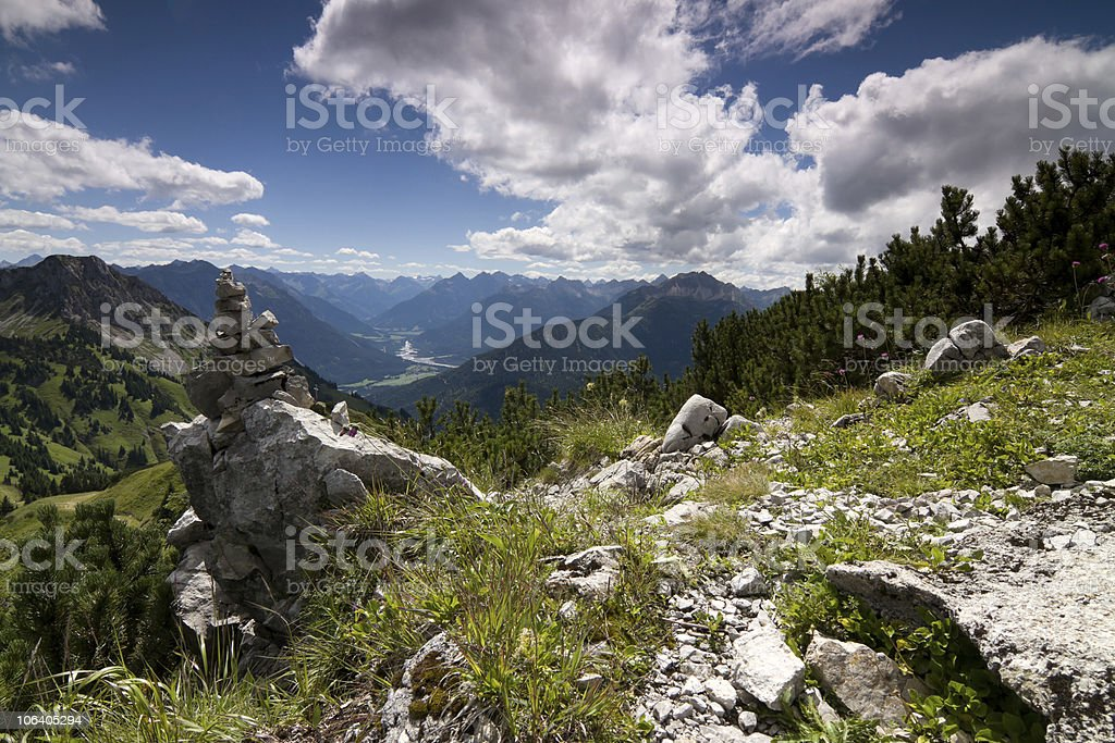 View to lech valley royalty-free stock photo