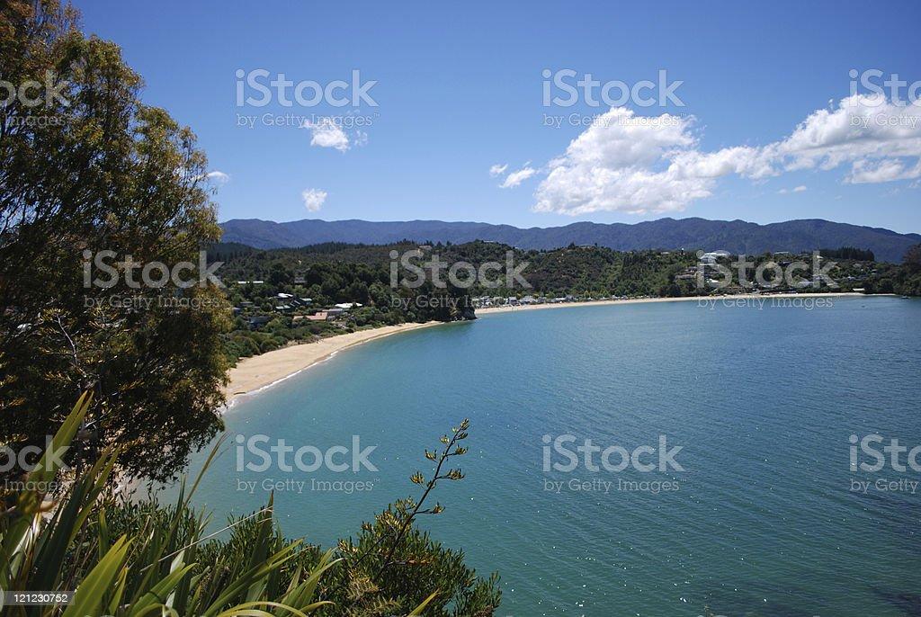 View to Little Kaiteriteri Bay, Tasman, New Zealand stock photo