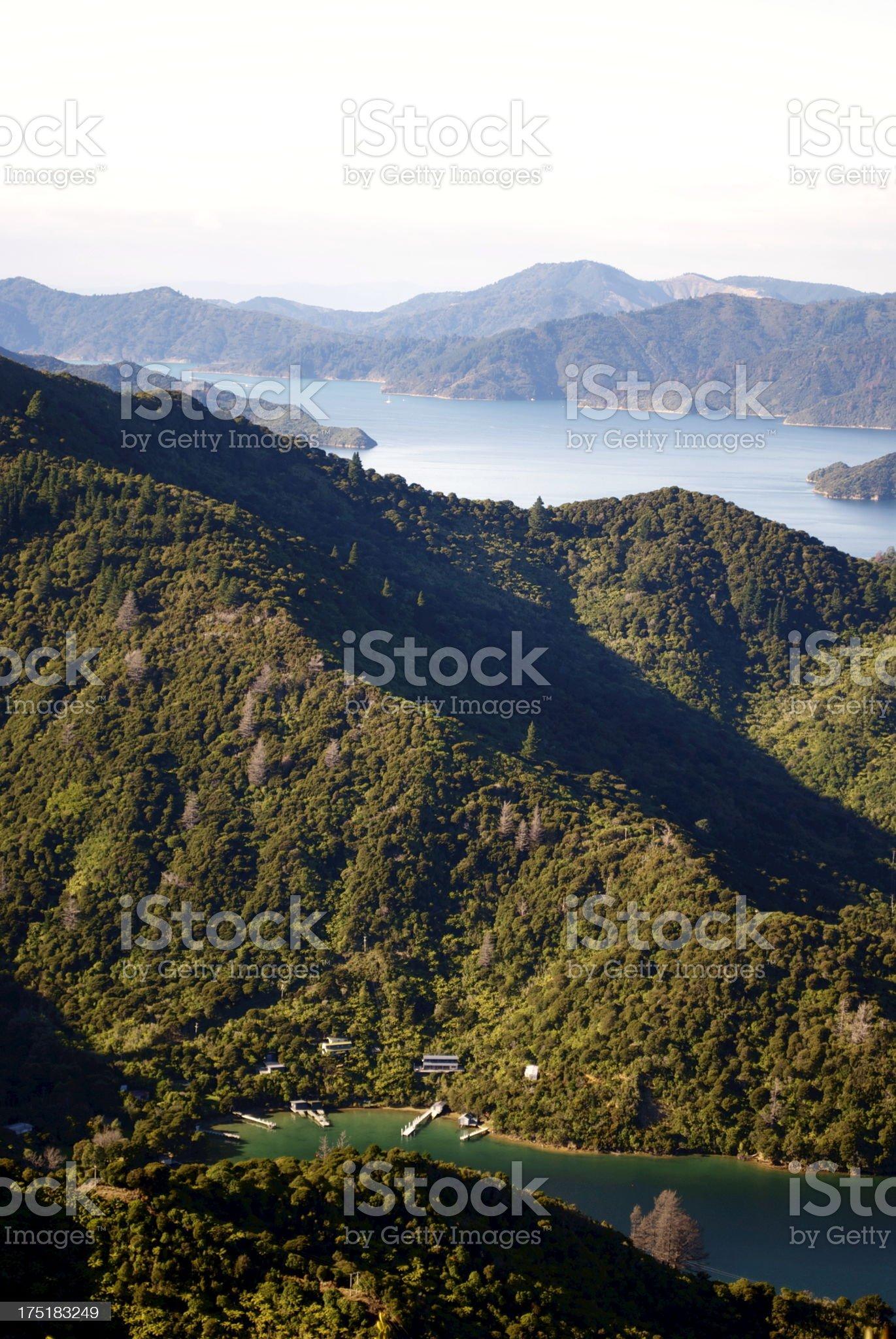 View to Lochmara Bay, Marlborough Sounds, NZ royalty-free stock photo