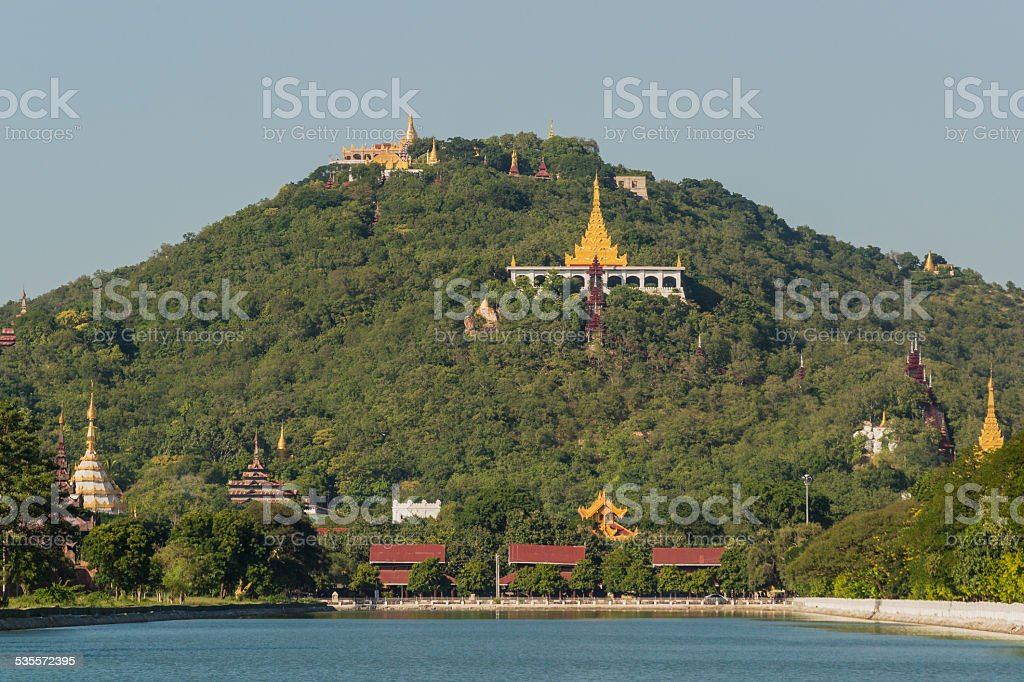 View to Mandalay Hill stock photo