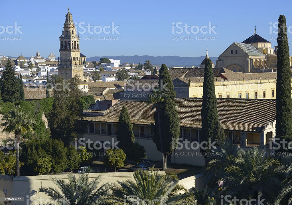 View to Mezquita cathedral in Cordoba, Spain royalty-free stock photo