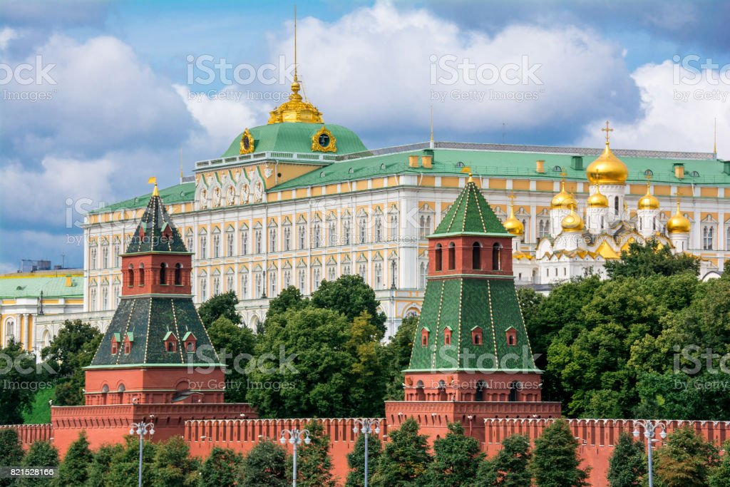 View to Moscow Kremlin stock photo