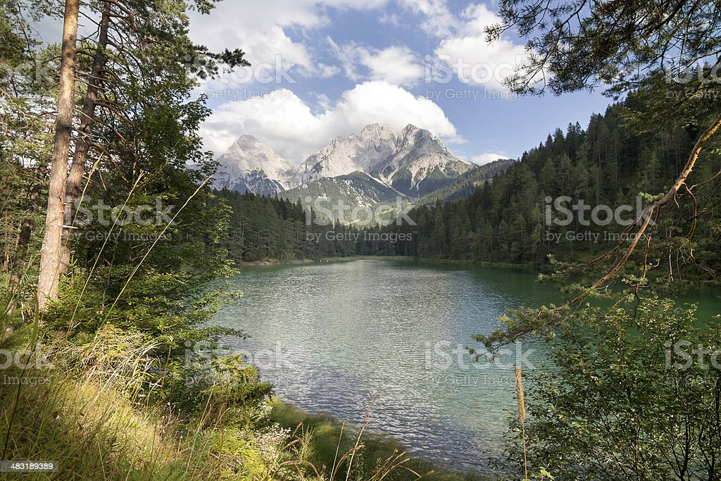 View to mt. Zugspitze stock photo
