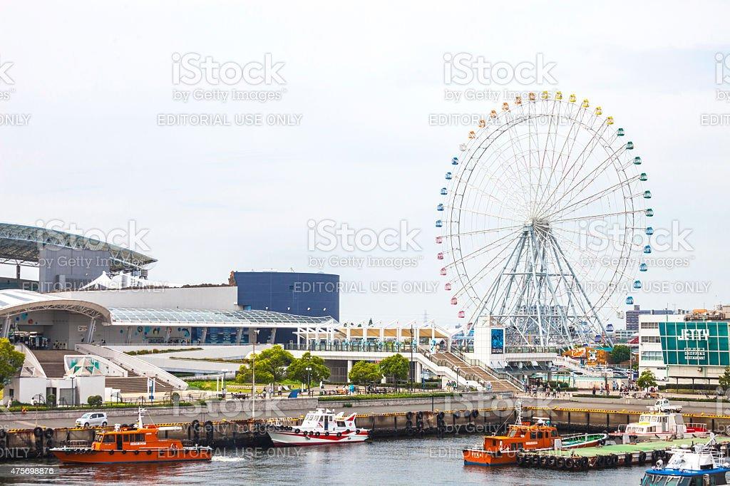 View to Nagoya Port. stock photo