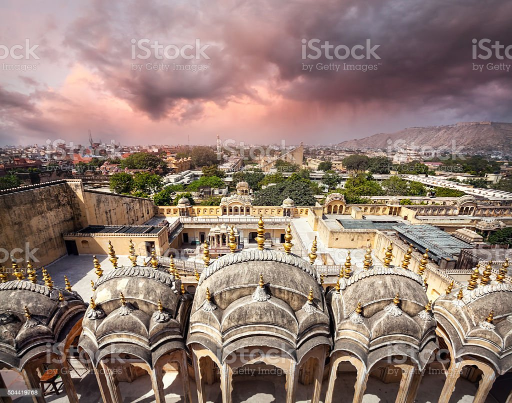 View to Old Jaipur city stock photo