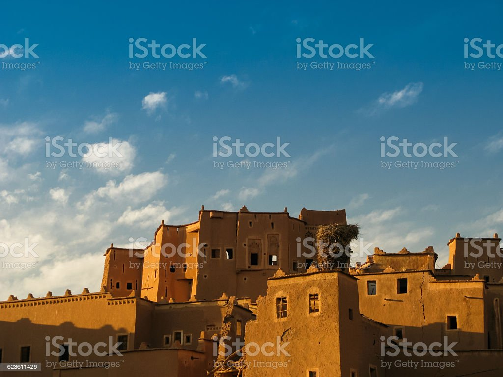 View to Ouarzazate old city aka kasbah, Crane nest Morocco stock photo