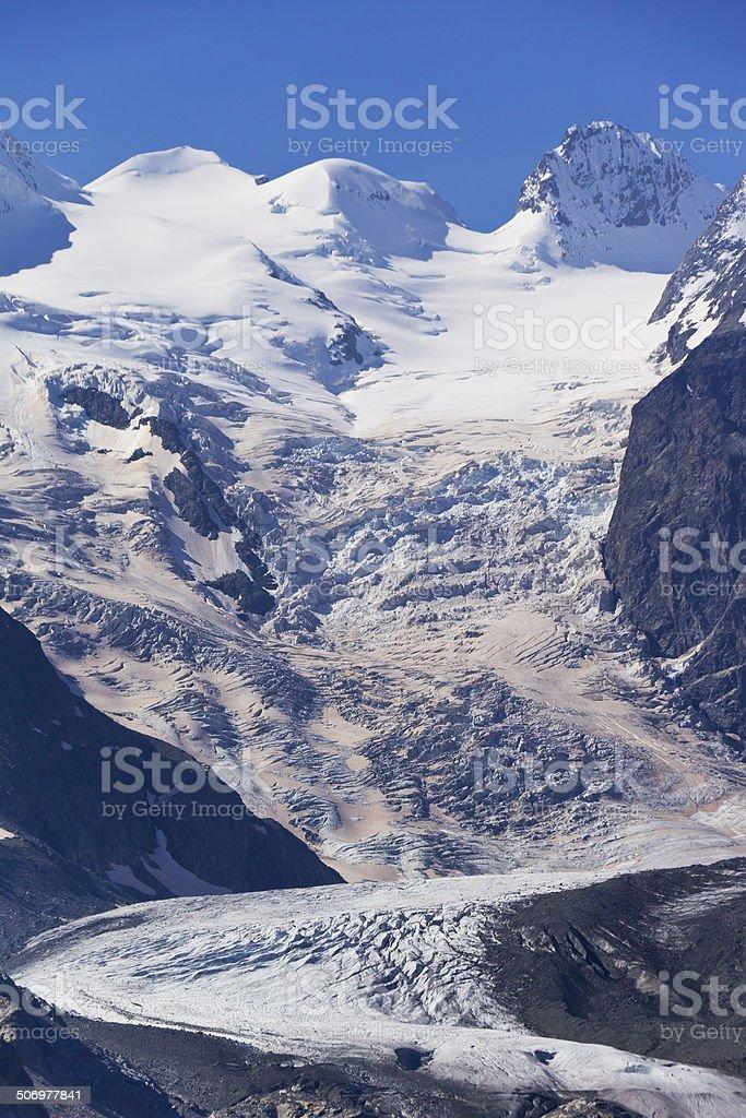 View to Piz Bernina, Switzerland stock photo