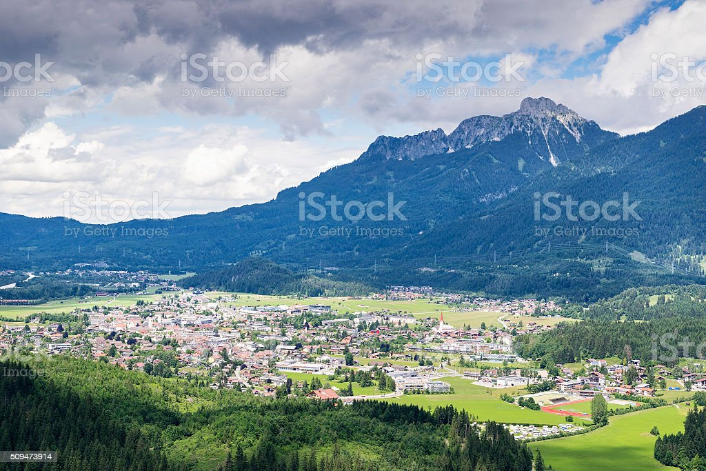 View to Reutte stock photo