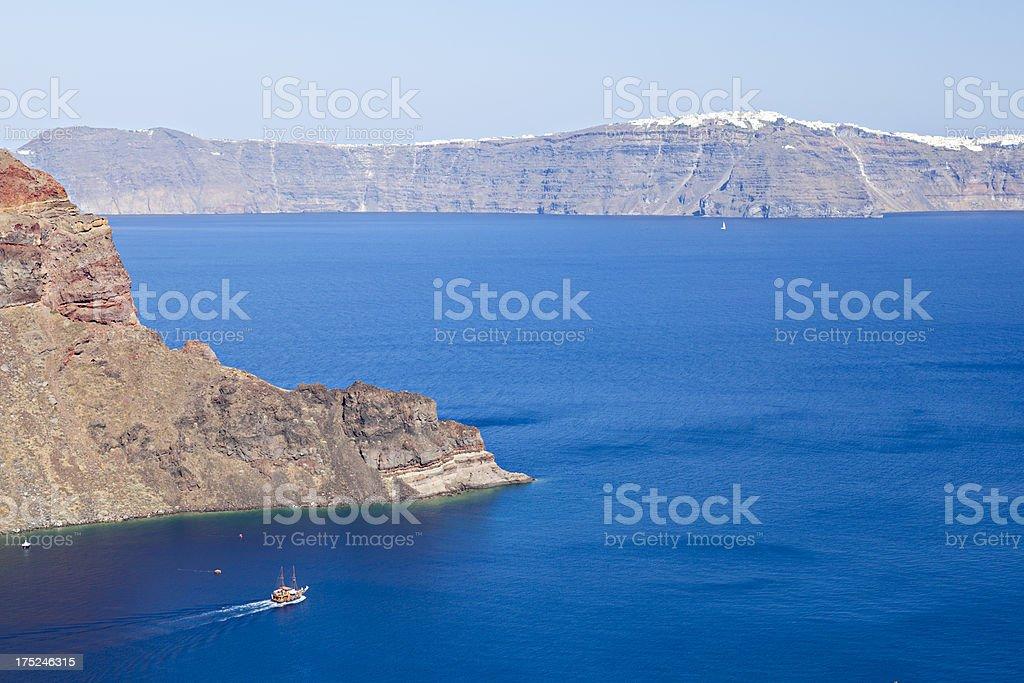 View To Santorini stock photo
