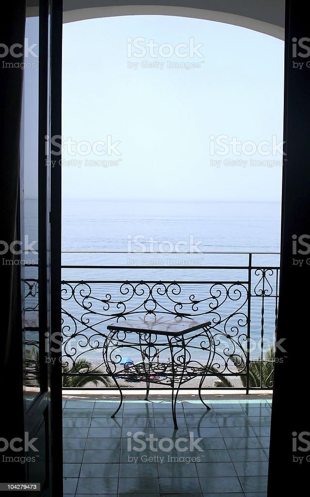 View to sea royalty-free stock photo
