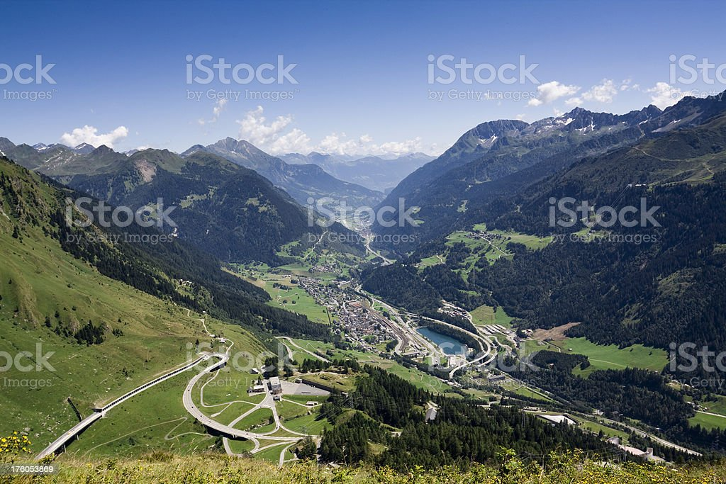View to Tessin royalty-free stock photo