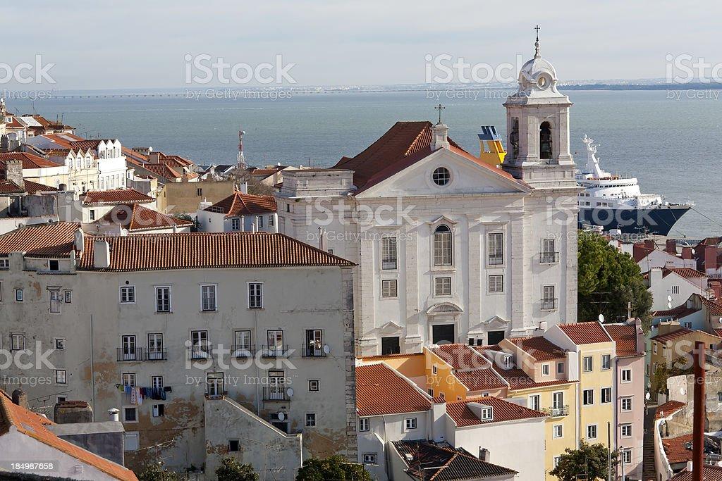 View to the Alfama, Lisbon stock photo