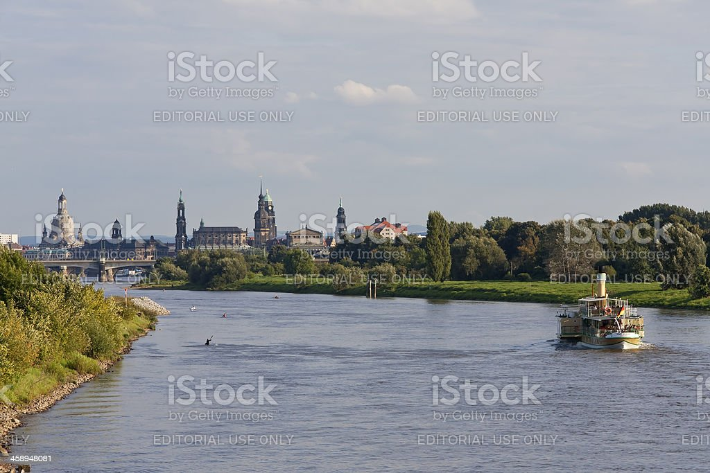 View to the Cityscape of Dresden stock photo