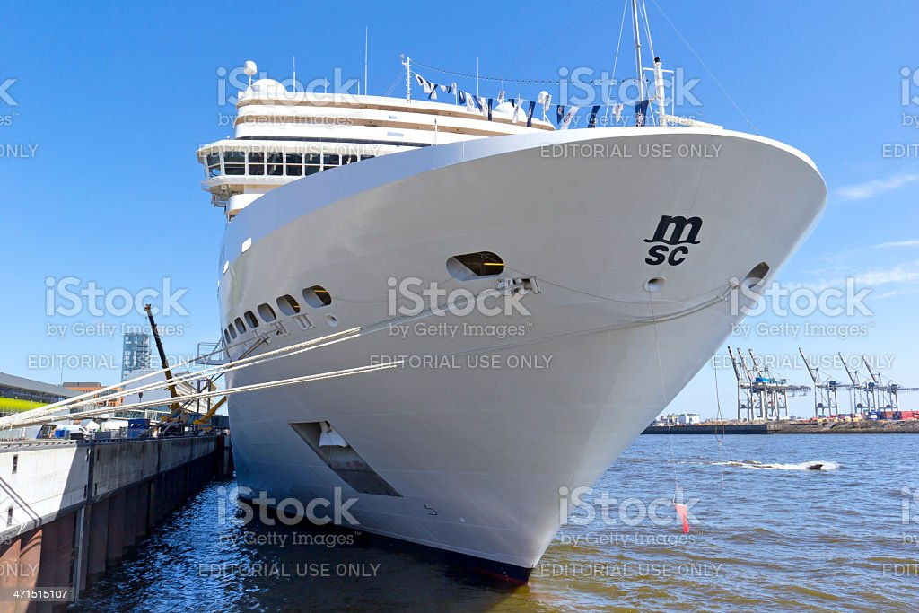 View to the Cruise Ship MSC Magnifica stock photo