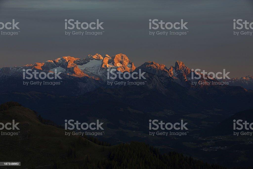 View to the Dachstein stock photo