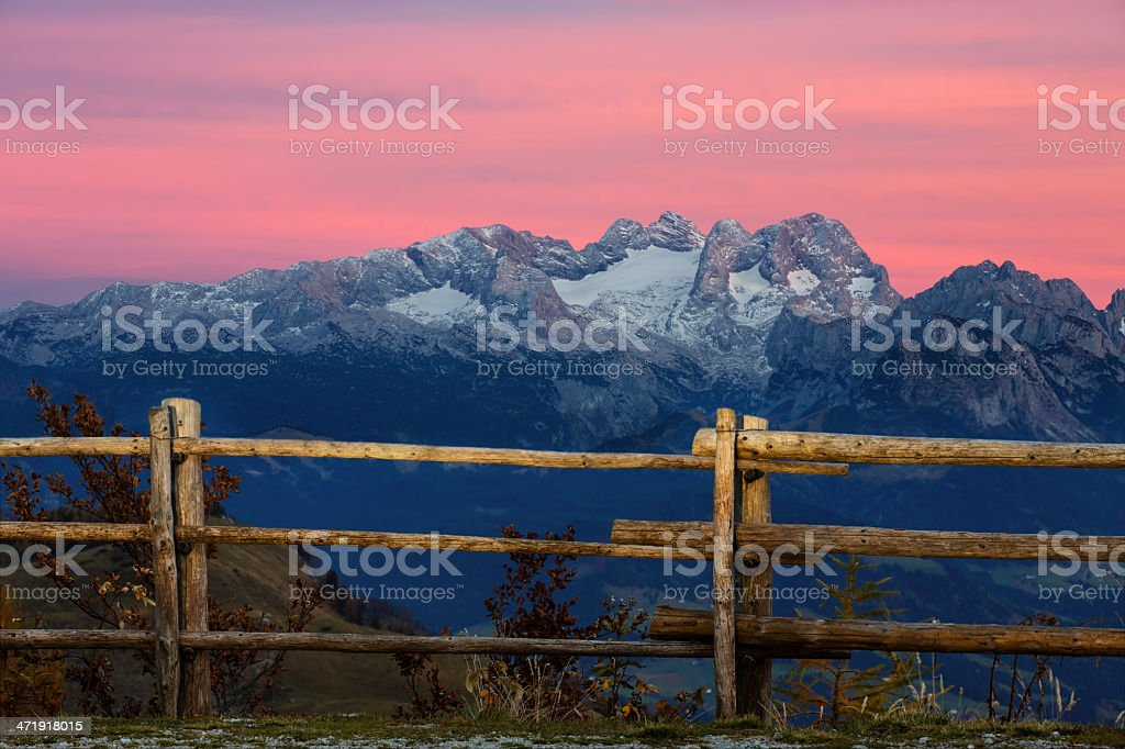View to the Dachstein royalty-free stock photo