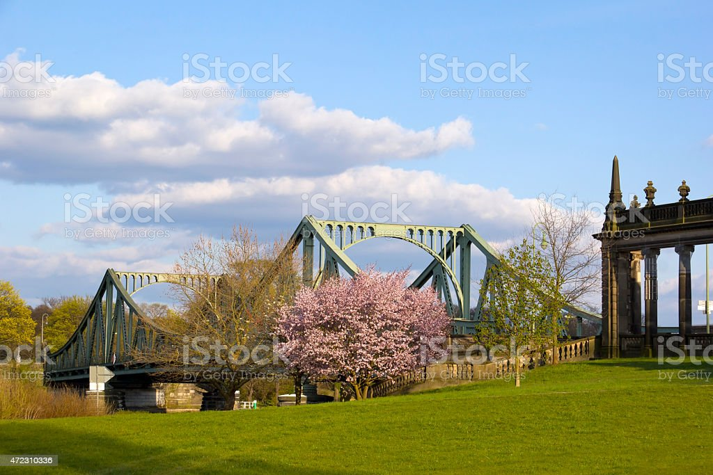 View to the Glienicke Bridge, Potsdam stock photo