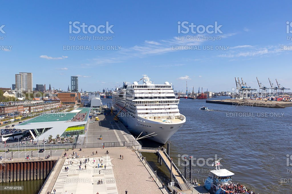 View to the Harbour in Hamburg stock photo