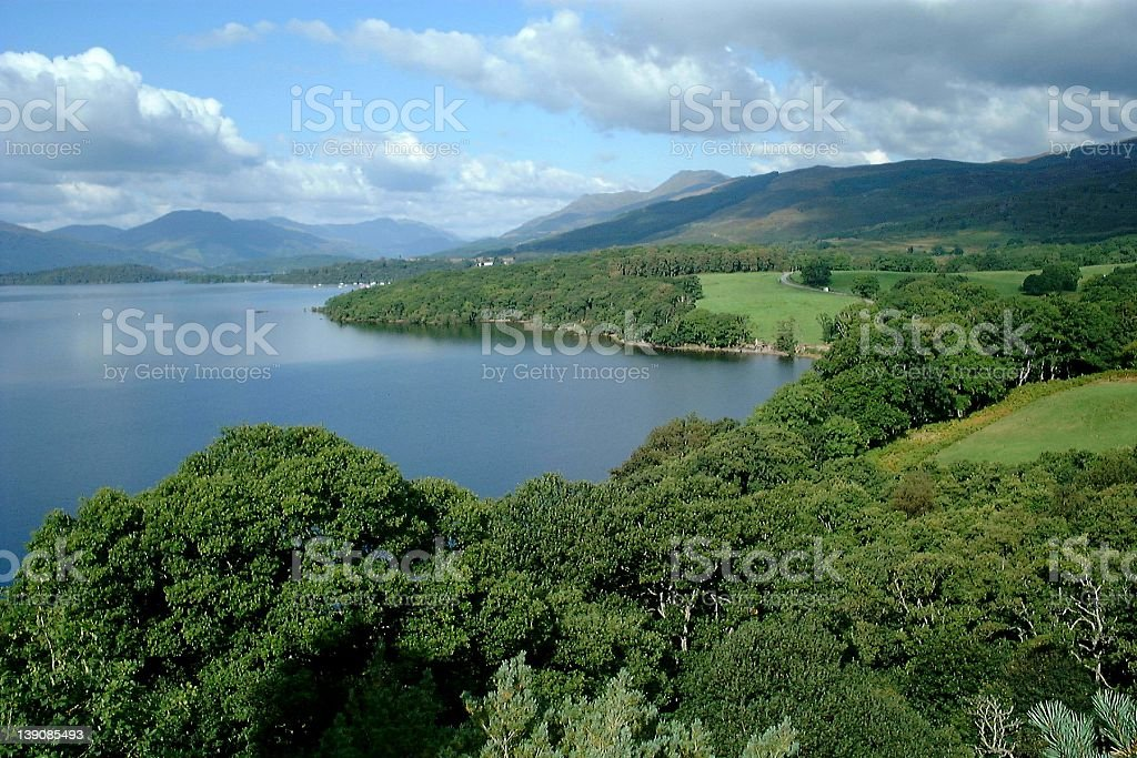 View to the Highlands royalty-free stock photo