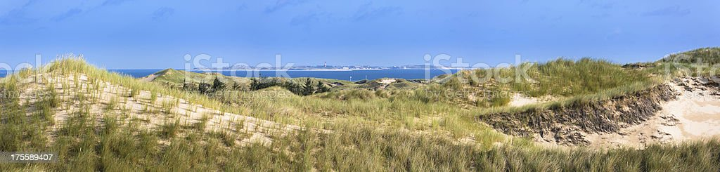 View to the island Sylt stock photo