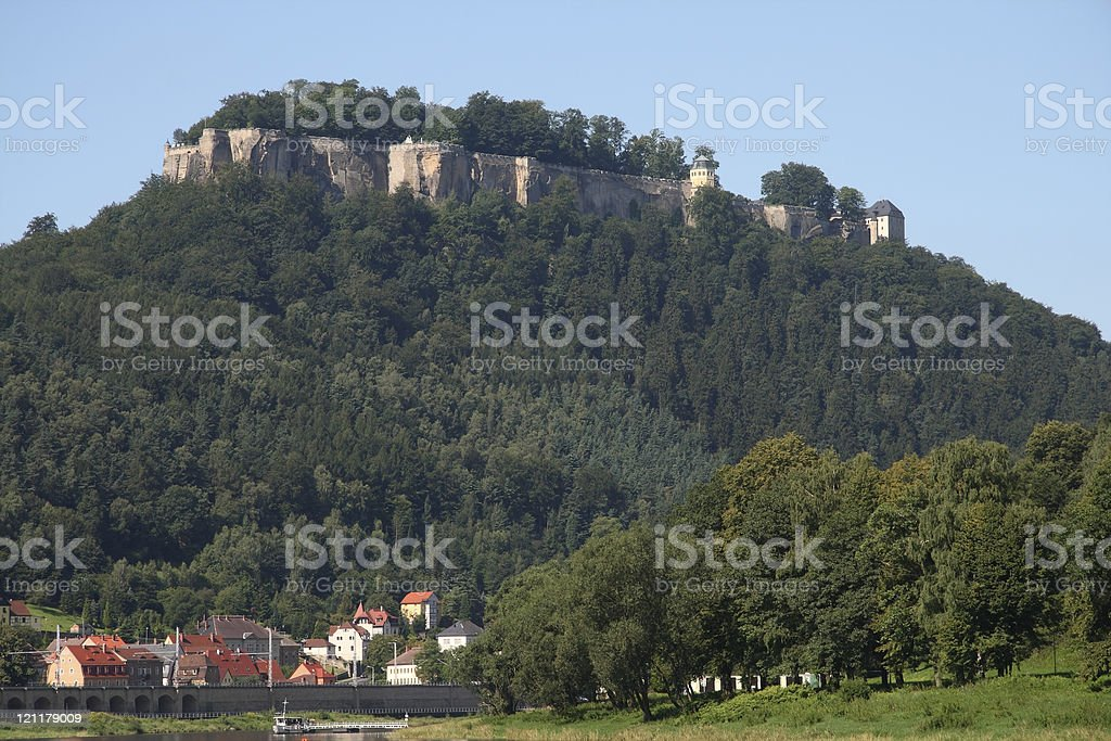View to the K?nigstein Fortress stock photo