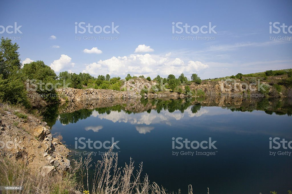 view to the lake royalty-free stock photo