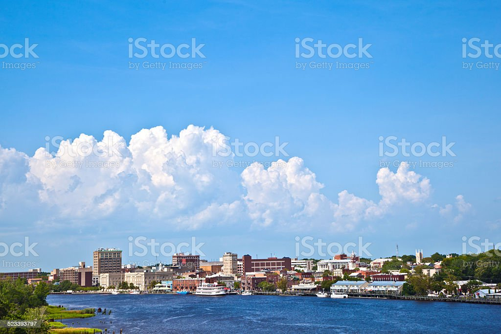 view to the old harbor of scenic Wilmington stock photo