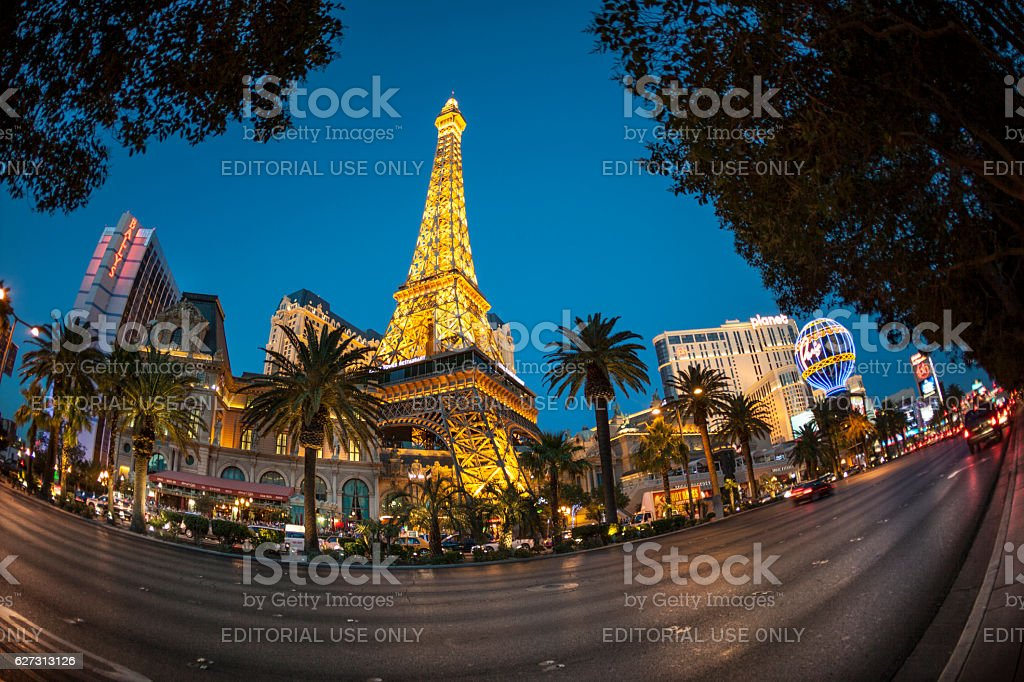 view to the Strip, the casino mile in Las Vegas stock photo