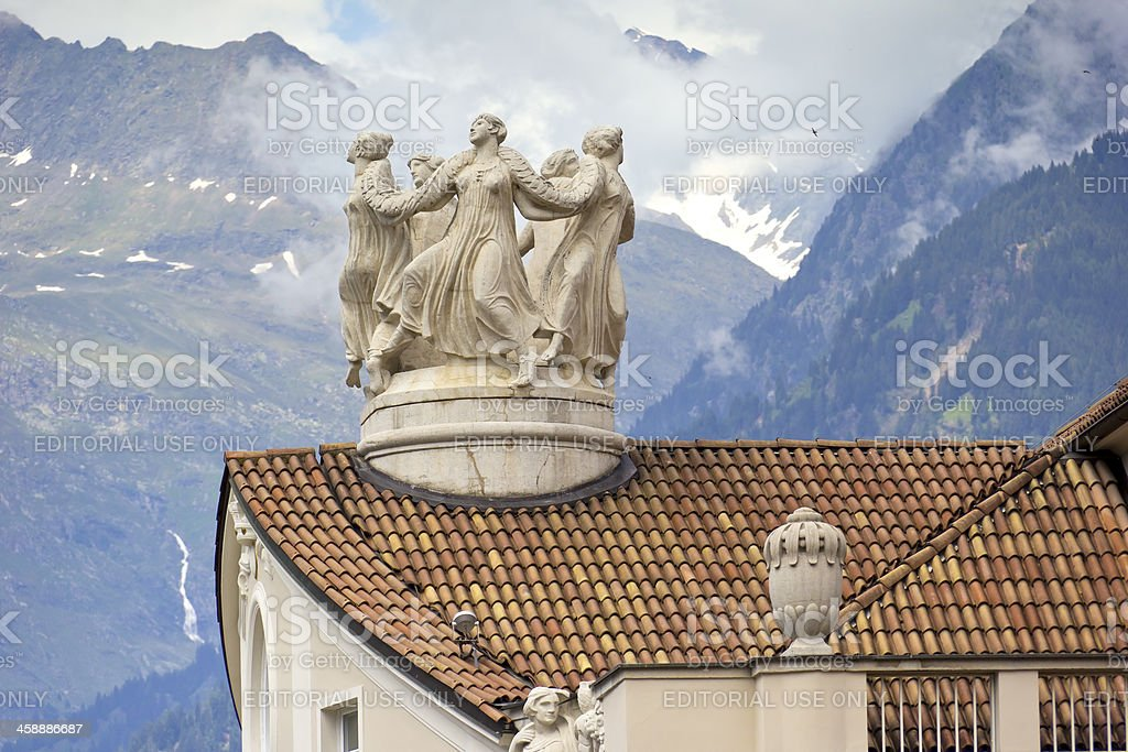 View to the top, Merano, Italy stock photo