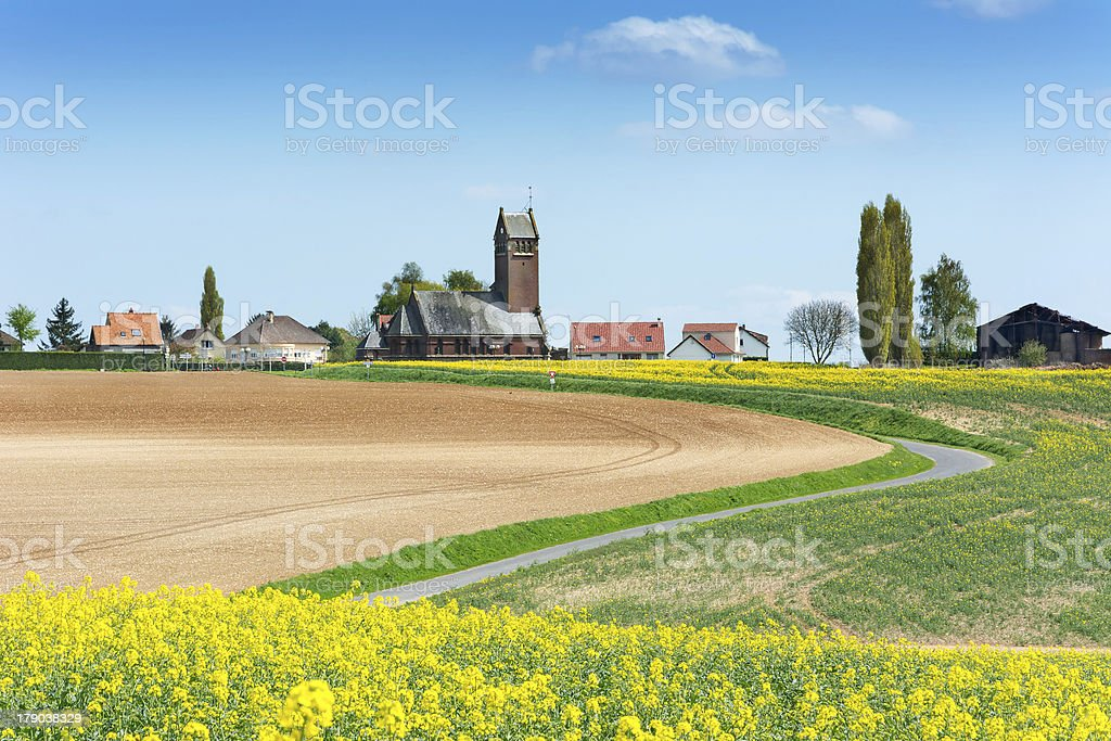 View to Thiepval Village France stock photo
