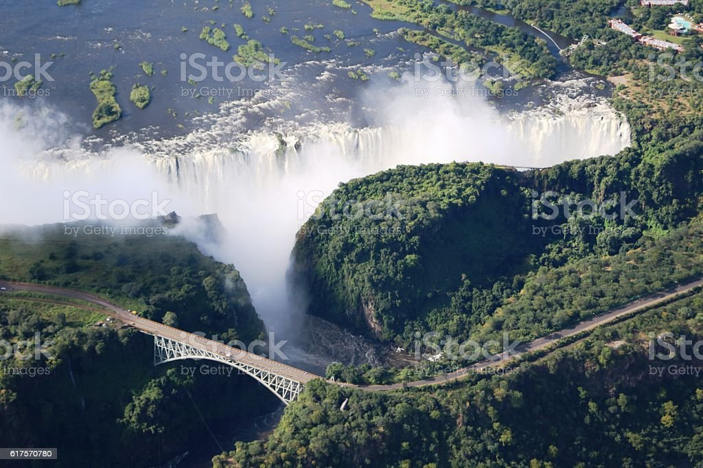 View to Victoria Falls in Africa stock photo