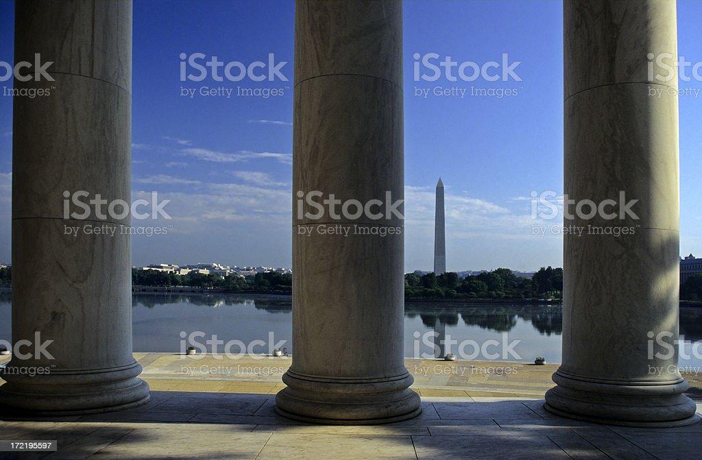 View to Washington Monument royalty-free stock photo