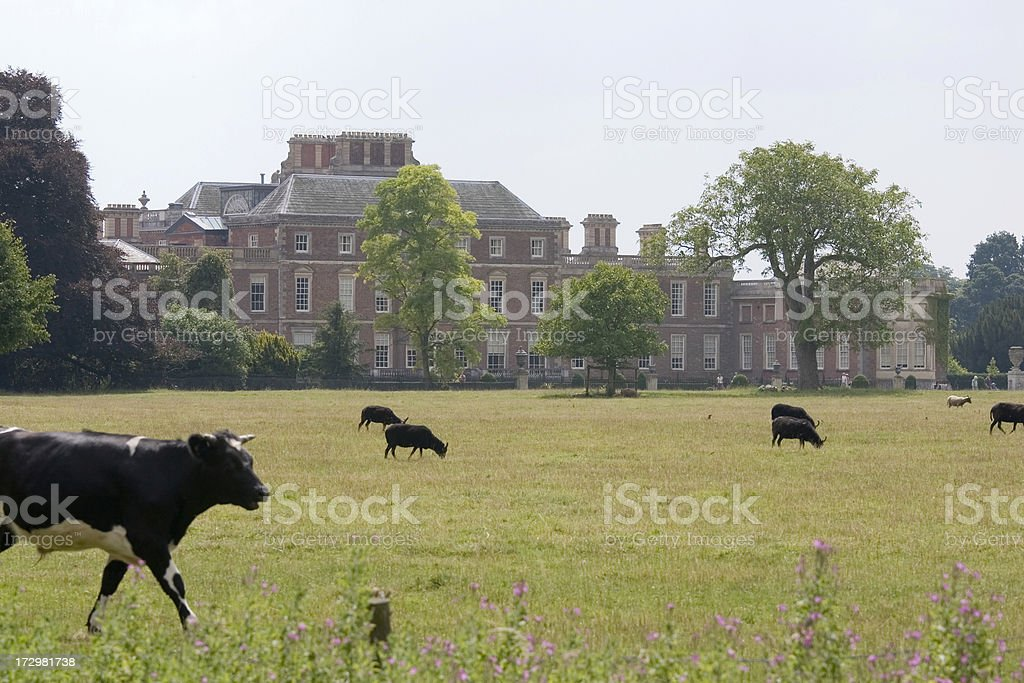 View to Wimpole Hall royalty-free stock photo
