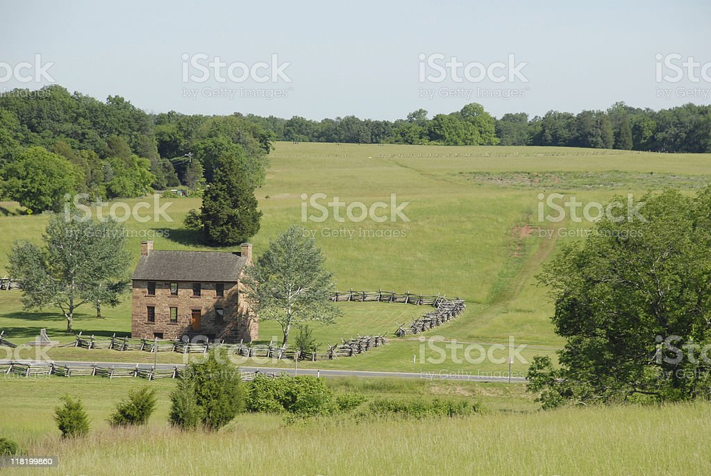 View toward Mathews Hill at Manassas stock photo
