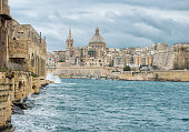View toward the historic city of Valletta, Malta