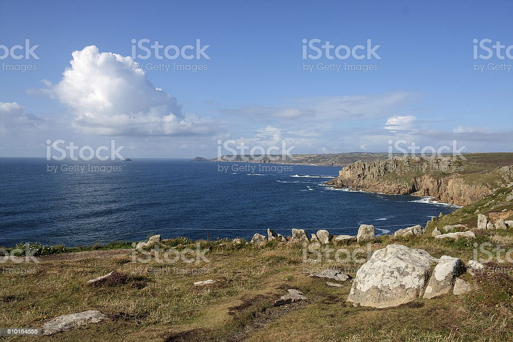 View towards Cape Cornwall stock photo
