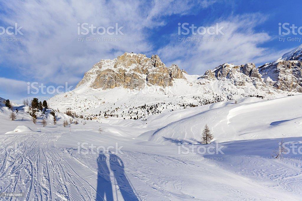 View towards Monte Lagazuoi royalty-free stock photo
