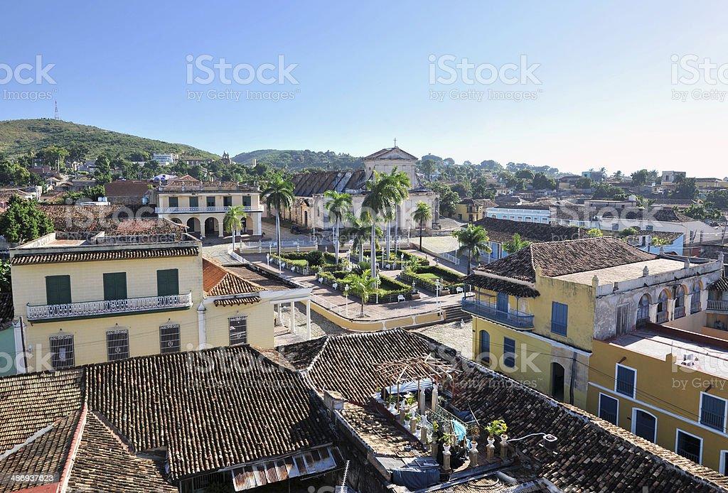 View towards Plaza Mayor,Trinidad,Cuba stock photo
