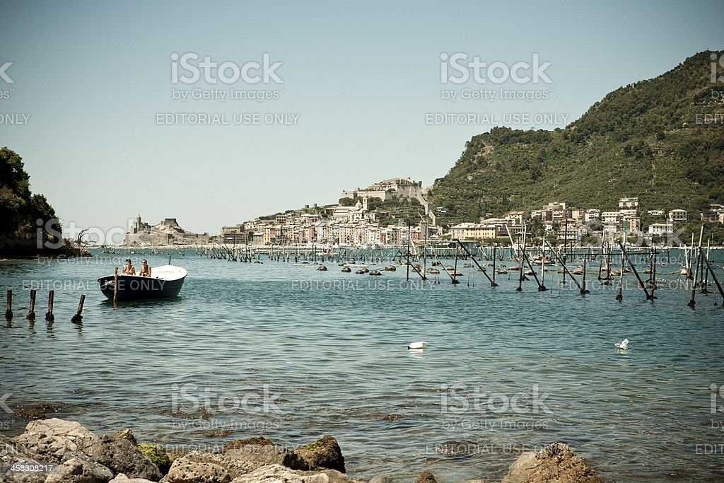 View towards Portovenere. royalty-free stock photo