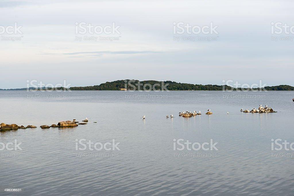 View towards the island Vilm stock photo